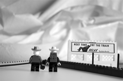 Homage to Dorothea Lange, In Legos